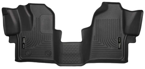 Ford Transit-250 Base 2015-2019 - Black Front Floor Liners - Weatherbeater Series