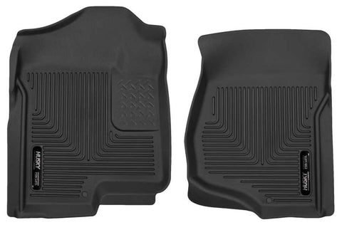 GMC Sierra 2500 HD SLE Crew Cab;Regular Cab2007-2014 - Black Front Floor Liners - X-act Contour Series