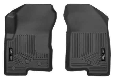 Jeep Compass North Edition 2007-2017 - Black Front Floor Liners - Weatherbeater Series