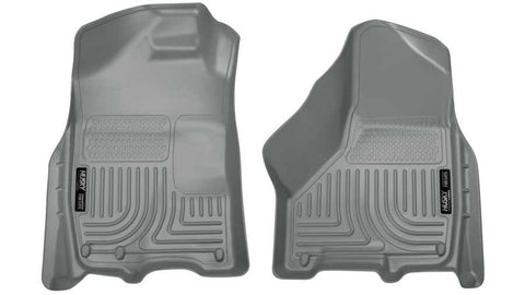 Ram 2500 SLT Crew Cab;Regular Cab;Extended Crew Cab2011-2018 - Gray Front Floor Liners - Weatherbeater Series
