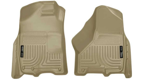 Ram 3500 Big Horn Crew Cab;Extended Crew Cab2011-2018 - Tan Front Floor Liners - Weatherbeater Series