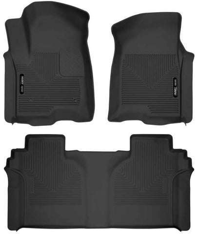 Chevrolet Silverado 1500 LT Trail Boss Crew Cab2019-2020 - Black Front/2nd Seat Floor Liners - X-act Contour Series