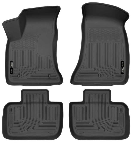Chrysler 300 Touring L Rear Wheel Drive2011-2019 - Black Front/2nd Seat Floor Liners - Weatherbeater Series