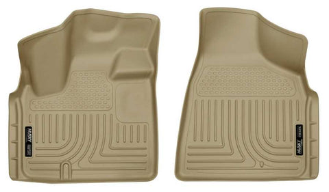 Dodge Grand Caravan SXT Premium Plus 2008-2020 - Tan Front Floor Liners - Weatherbeater Series