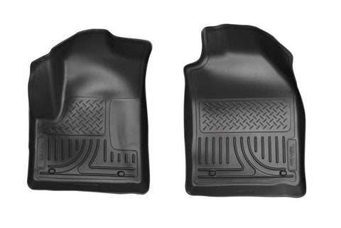 Ford Transit Connect XLT Premium 2010-2013 - Black Front Floor Liners - Weatherbeater Series