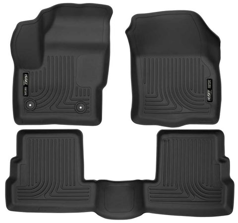 Lincoln MKC Select 2015-2019 - Black Front/2nd Seat Floor Liners - Weatherbeater Series