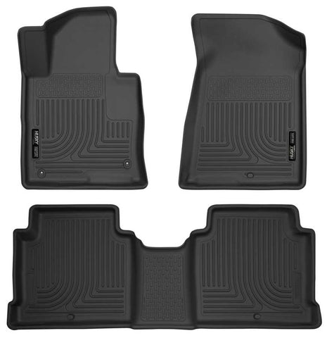 Hyundai Sonata Essential 2015-2019 - Black Front/2nd Seat Floor Liners - Weatherbeater Series