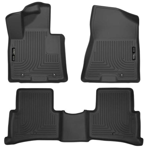 Hyundai Tucson Essential 2019-2020 - Black Front/2nd Seat Floor Liners - Weatherbeater Series