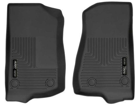 Jeep Wrangler (JL) Unlimited Sport 2018-2020 - Black Front Floor Liners - Weatherbeater Series