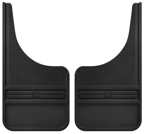 Chevrolet Silverado 1500 High Country 1999-2020 - Black Rubber Front Mud Flaps-12IN w/o Weight - MudDog Mud Flaps