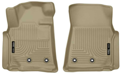 Toyota Land Cruiser Base 2013-2019 - Tan Front Floor Liners - Weatherbeater Series