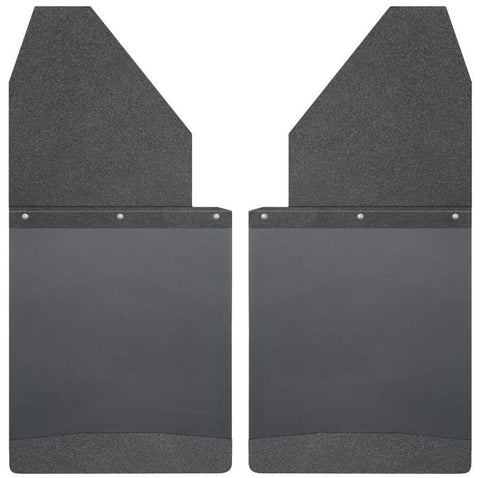 Toyota Tacoma X-Runner 1995-2020 - Black Kick Back Mud Flaps 14in. Wide-Black Top and Black Weight - Mud Flaps