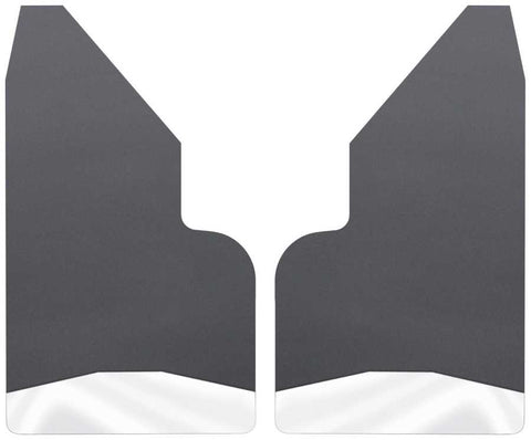Chevrolet Silverado 1500 LT Trail Boss Standard Side Bed1999-2020 - Black Universal Mud Flaps 14in. Wide-Stainless Steel Weight - Mud Flaps