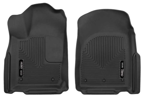 Dodge Durango Crew Plus 2011-2020 - Black Front Floor Liners - X-act Contour Series