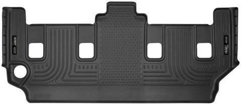 Dodge Grand Caravan Crew Plus With Stow and Go Seats2008-2020 - Black 3rd Seat Floor Liner - Weatherbeater Series