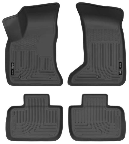 Chrysler 300 Touring L 2011-2019 - Black Front/2nd Seat Floor Liners - Weatherbeater Series
