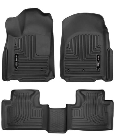Dodge Durango Citadel Platinum 2016-2020 - Black Front/2nd Seat Floor Liners - Weatherbeater Series