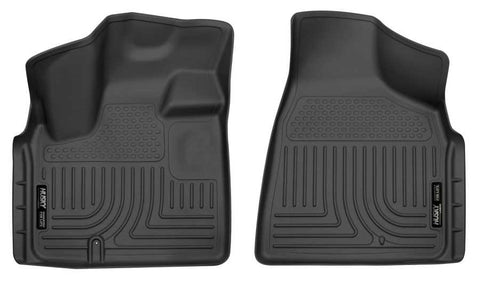 Dodge Grand Caravan 30th Anniversary Edition 2008-2020 - Black Front Floor Liners - Weatherbeater Series