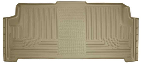 Dodge Grand Caravan Crew Plus 2008-2020 - Tan 2nd Seat Floor Liner - Weatherbeater Series