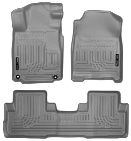 Honda CR-V Touring 2016-2016 - Gray Front/2nd Seat Floor Liners - Weatherbeater Series