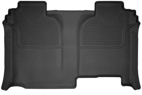 Chevrolet Silverado 3500 HD WT Crew Cab2019-2020 - Black 2nd Seat Floor Liner (Full Coverage) - Weatherbeater Series