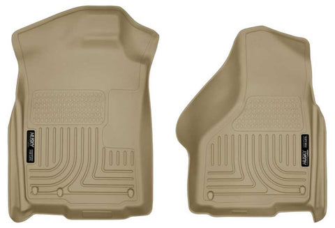 Ram 1500 Big Horn Extended Cab2011-2018 - Tan Front Floor Liners - Weatherbeater Series