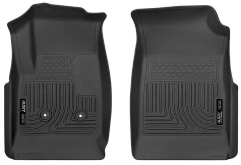 GMC Canyon All Terrain Crew Cab;Extended Cab2015-2020 - Black Front Floor Liners - Weatherbeater Series