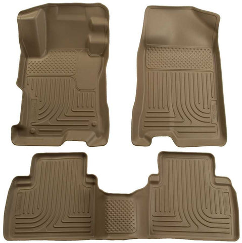 Honda Civic Touring 2012-2013 - Tan Front/2nd Seat Floor Liners - Weatherbeater Series
