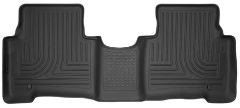 Hyundai Santa Fe XL SE 2013-2019 - Black 2nd Seat Floor Liner - Weatherbeater Series
