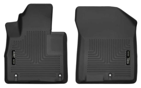 Hyundai Santa Fe Luxury 2019-2020 - Black Front Floor Liners - Weatherbeater Series