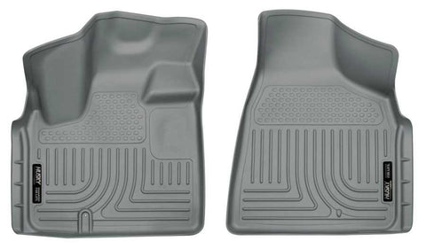 Dodge Grand Caravan 30th Anniversary Edition 2008-2020 - Gray Front Floor Liners - Weatherbeater Series