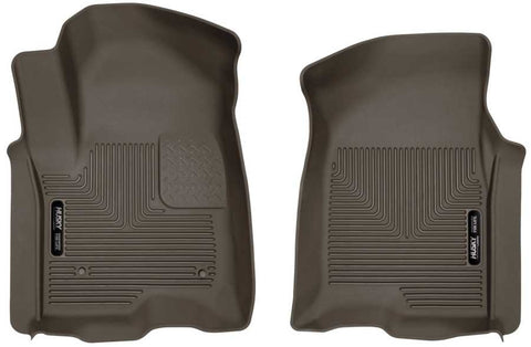 GMC Sierra 1500 Elevation Extended Cab2019-2020 - Cocoa Front Floor Liners - X-act Contour Series