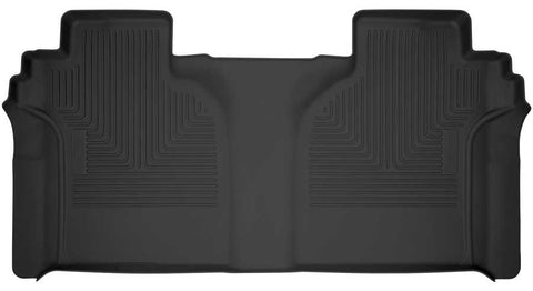 Chevrolet Silverado 1500 LT Trail Boss Crew Cab2019-2020 - Black 2nd Seat Floor Liner (Full Coverage) - X-act Contour Series