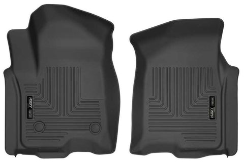 Chevrolet Silverado 1500 High Country Crew Cab2019-2020 - Black Front Floor Liners - Weatherbeater Series