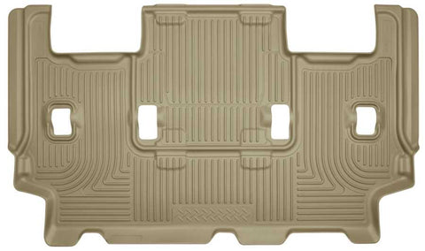 Ford Expedition EL XL 2012-2017 - Tan 3rd Seat Floor Liner - Weatherbeater Series