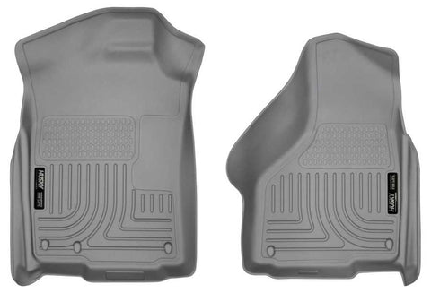 Ram 1500 Big Horn Extended Cab;Regular Cab2011-2018 - Gray Front Floor Liners - Weatherbeater Series