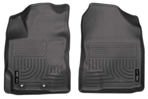 Toyota Yaris Base 2012-2018 - Black Front Floor Liners - Weatherbeater Series