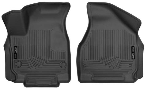 Chrysler Pacifica Touring L 2017-2020 - Black Front Floor Liners - Weatherbeater Series