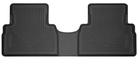 Hyundai Santa Fe Luxury 2019-2020 - Black 2nd Seat Floor Liner - Weatherbeater Series