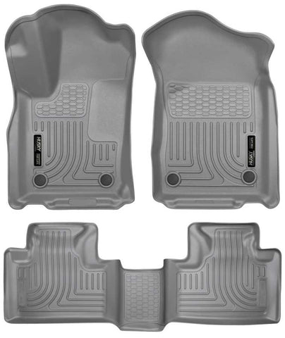 Dodge Durango Citadel Platinum 2016-2020 - Gray Front/2nd Seat Floor Liners - Weatherbeater Series