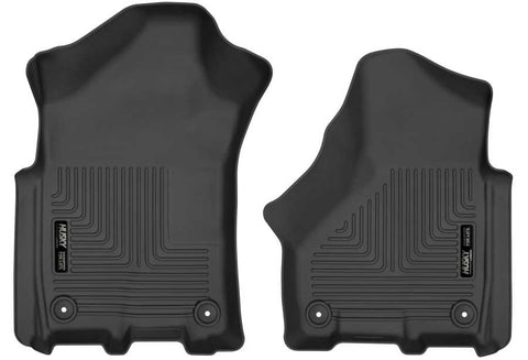 Ram 2500 Power Wagon Crew Cab2018-2020 - Black Front Floor Liners - Weatherbeater Series