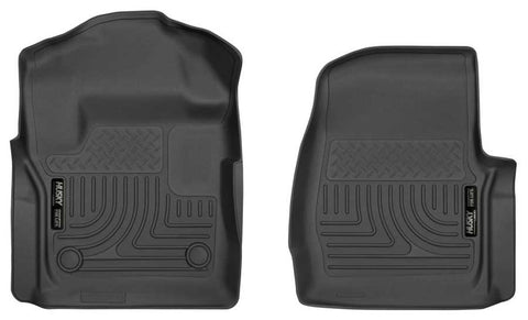 Ford F-350 Super Duty XLT Regular Cab2017-2020 - Black Front Floor Liners - Weatherbeater Series