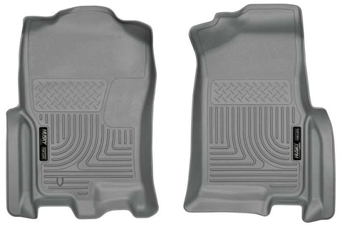 Lincoln Navigator L Ultimate 2007-2010 - Gray Front Floor Liners - Weatherbeater Series