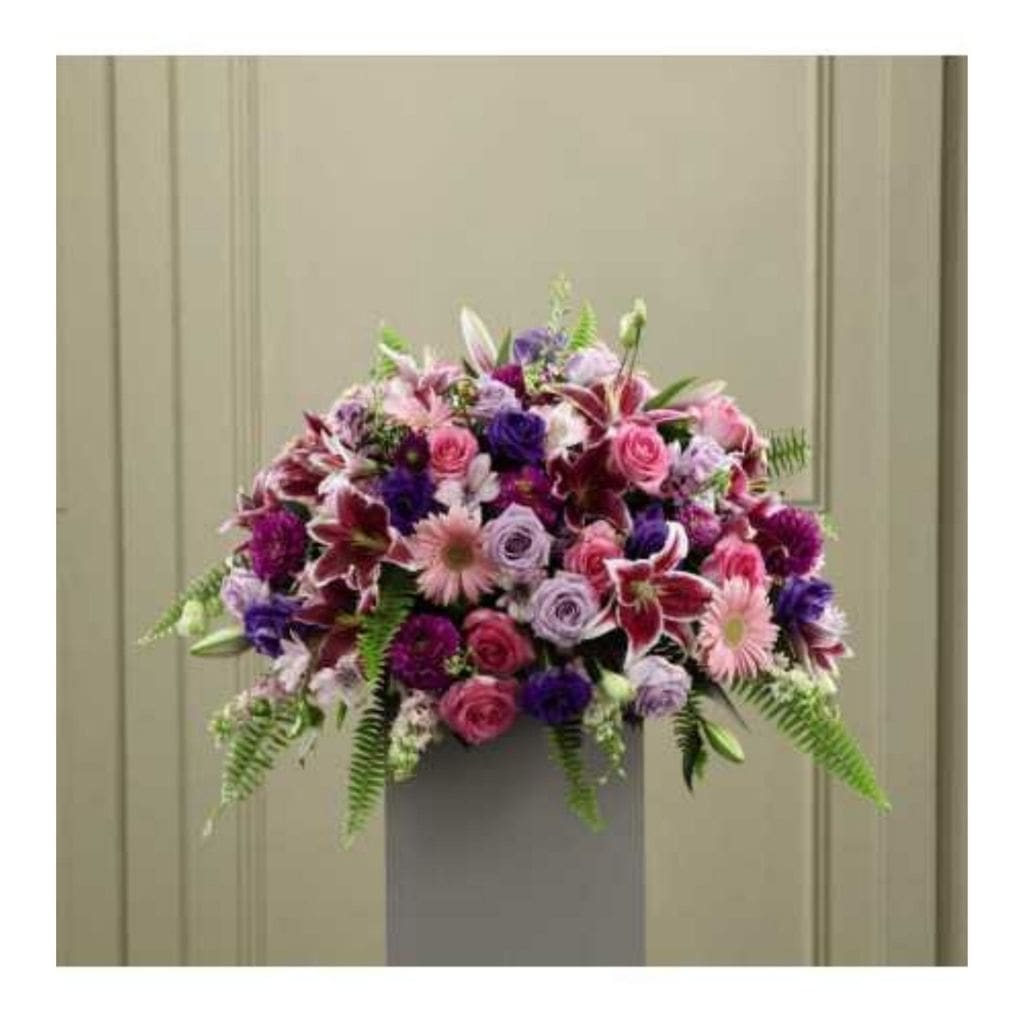 The FTD Fare Thee Well Pedestal Arrangement - Shalimar Flower Shop