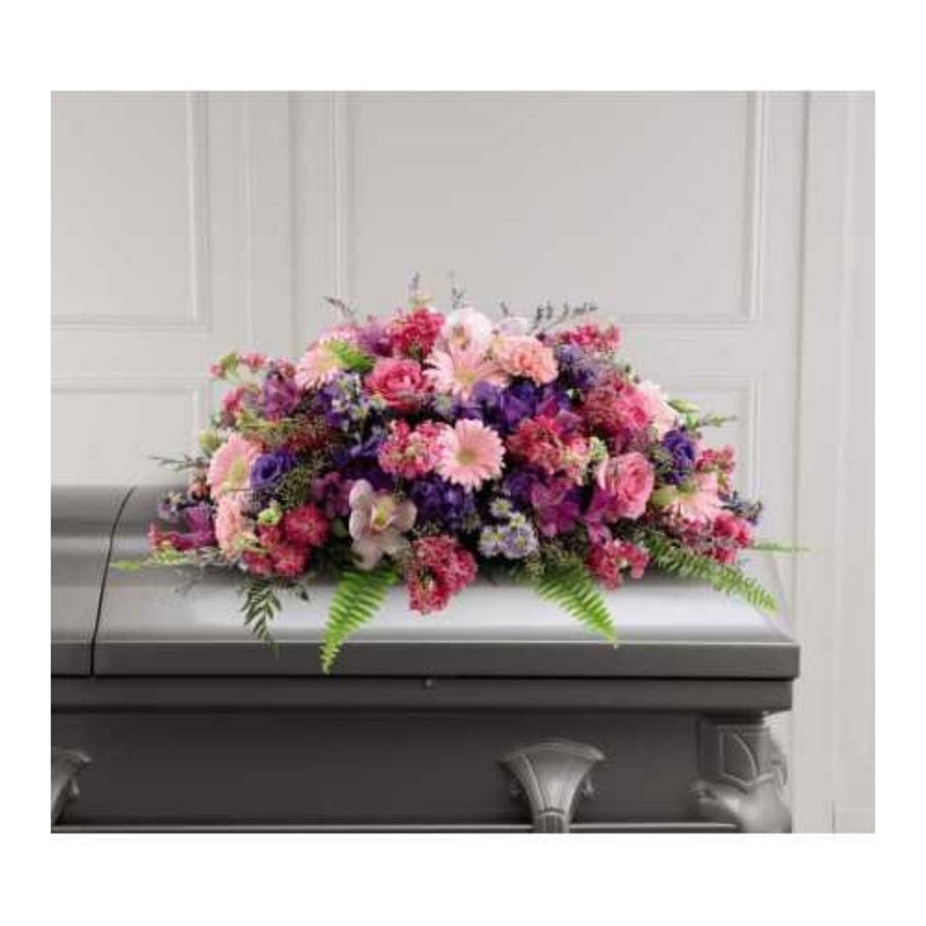 The FTD Glorious Garden Casket Spray - Shalimar Flower Shop