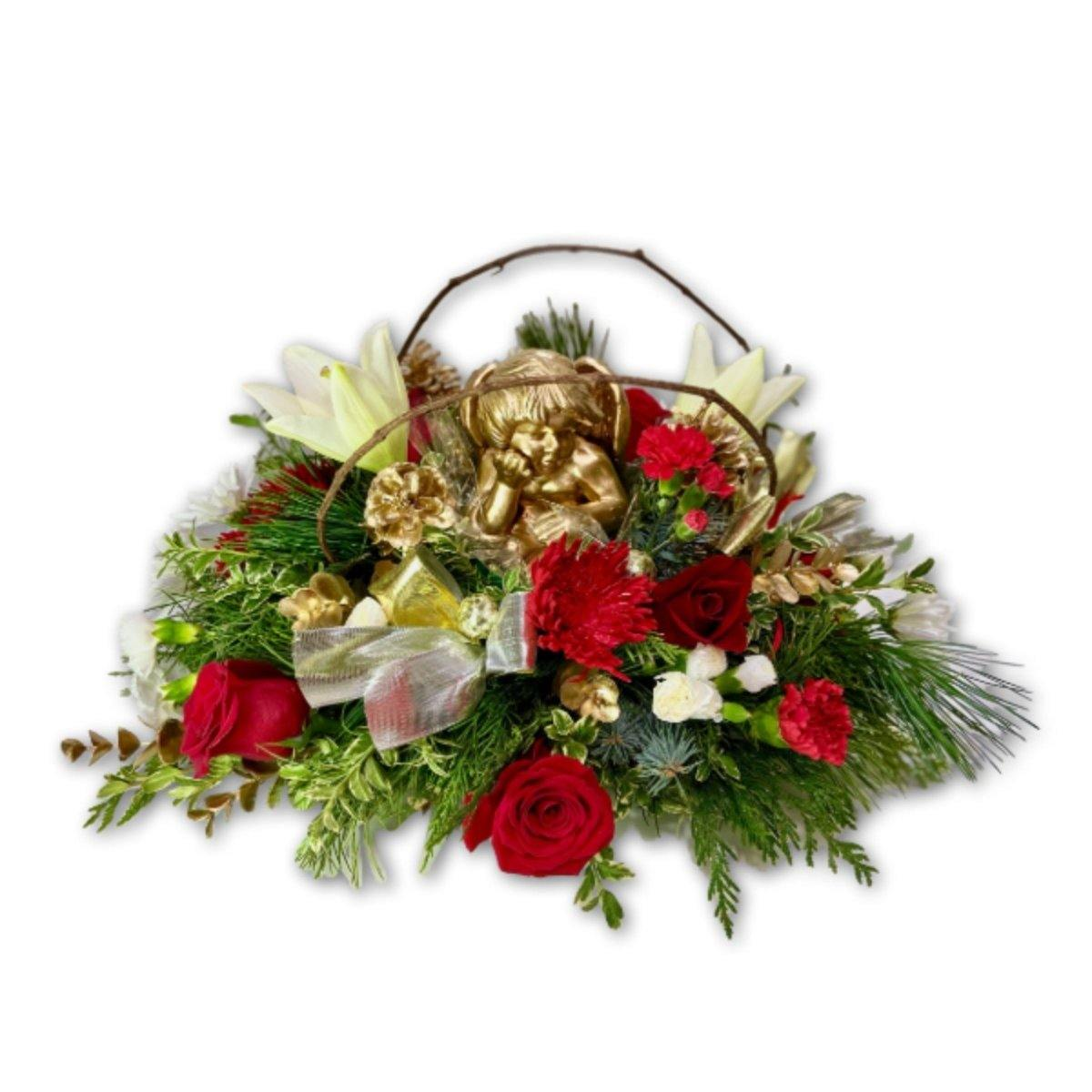 Angel Christmas Centerpiece - Shalimar Flower Shop