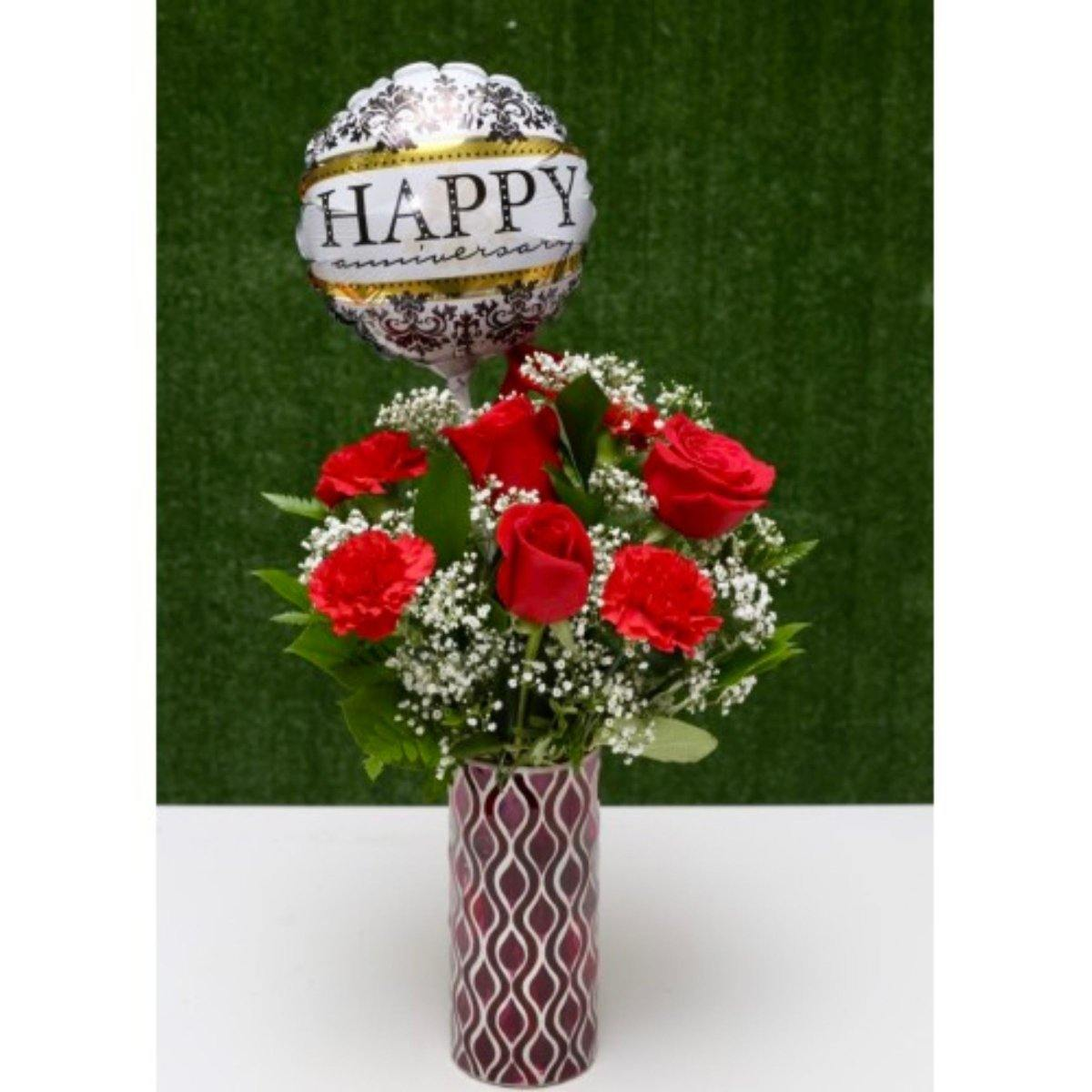 Anniversary Floral Delight Arrangement - Shalimar Flower Shop