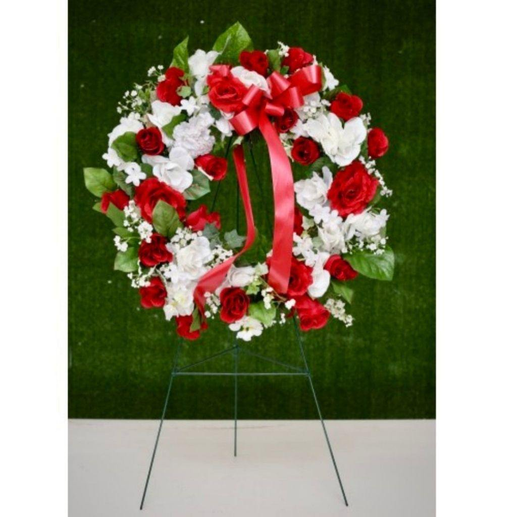 Artificial Floral Wreath for Cemetery - Shalimar Flower Shop