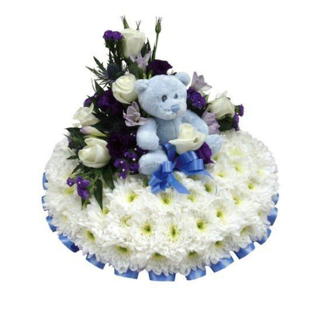 Baby Boy Funeral Casket Spray - Shalimar Flower Shop