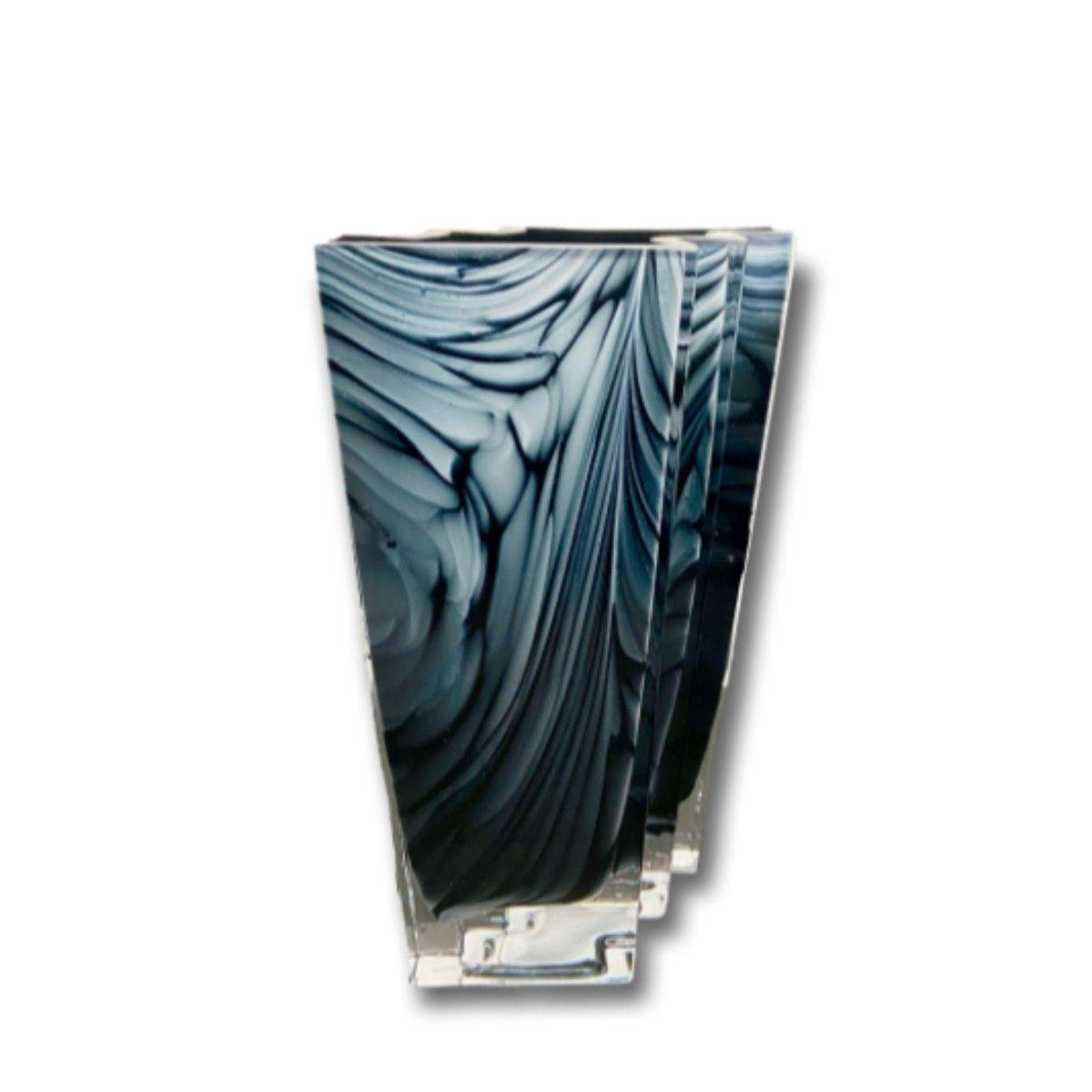 Blue & White Marbled Premium Vase - Shalimar Flower Shop